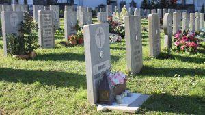 Vista general de lápidas